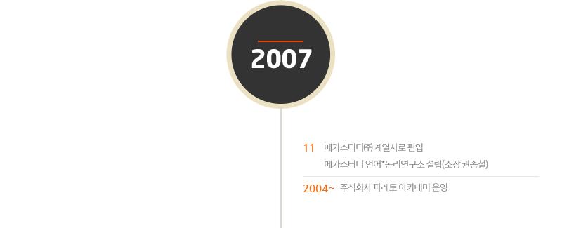 2007년도 연혁